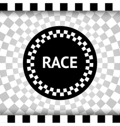 Race square background vector image vector image