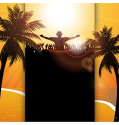 Summer festival panel background vector