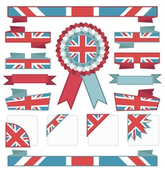 uk stitched ribbons vector image