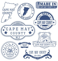 Cape May county New Jersey stamps and seals vector image vector image