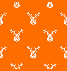 christmas deer pattern seamless vector image vector image