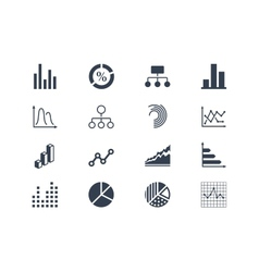 Diagram and infographic icons vector image vector image