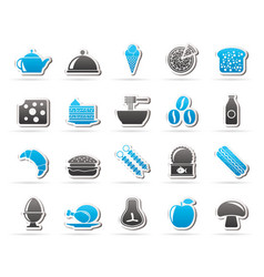 different king of food and drinks icons 2 vector image