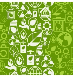 Ecology seamless pattern with environment icons vector image vector image