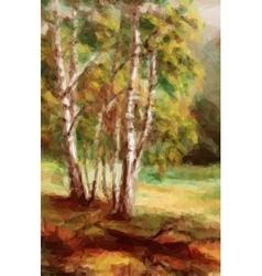 Landscape Autumn Forest vector image