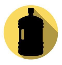 plastic bottle silhouette sign flat black vector image vector image