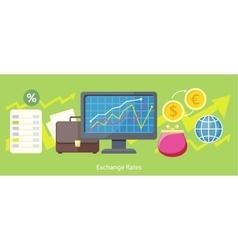 Exchange Rates Design Flat Concept vector image