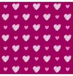 Pink Heart Seamless Pattern vector image