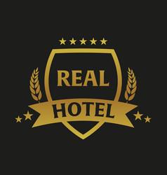 real hotel logo and emblem logo vector image