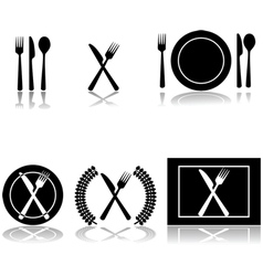 Restaurant and food icons vector