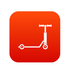 scooter icon digital red vector image vector image