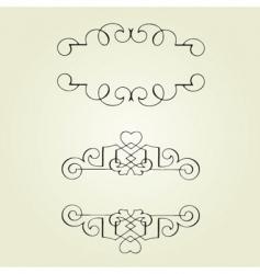 swirl ornaments vector image vector image