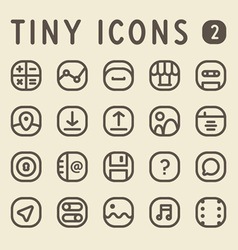 Tiny line icons for web and mobile applications vector