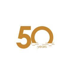50 years anniversary celebration sunset template vector