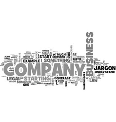 A company law jargon buster text word cloud vector