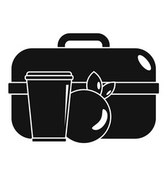Apple lunch box icon simple style vector