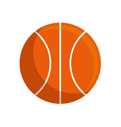 Basketball leather ball vector