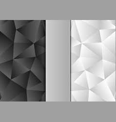 black and white color polygon abstract background vector image vector image