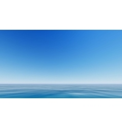 blue sea and clear sky vector image