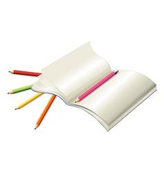 Book with pencils vector