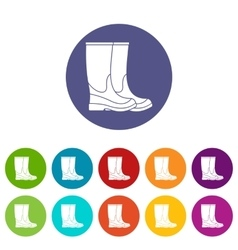 Boots set icons vector image