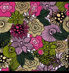 botanic texture vector image