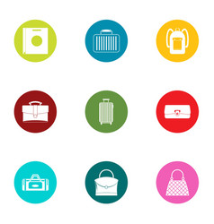 briefcase icons set flat style vector image