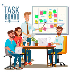 Business characters team work planning vector