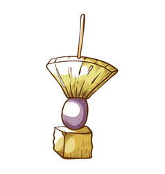 Canape snack appetizer icon delicious event vector