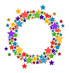 Circle frame with stars for your text vector
