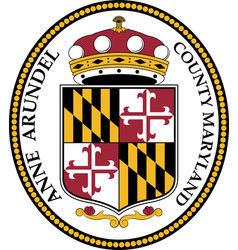 Coat arms anne arundel county maryland vector