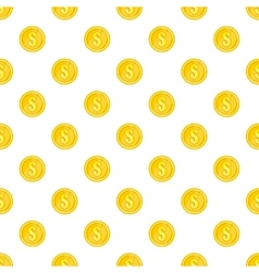 Coin pattern cartoon style vector image