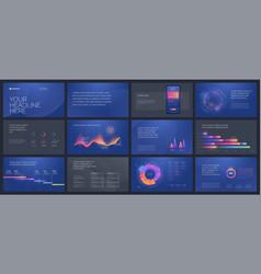 colorful presentation templates elements vector image