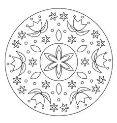 Coloring Simple Flower Mandala vector