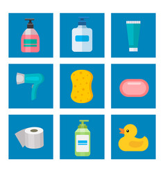 Cosmetic bathroom bottles of household chemicals vector