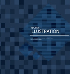 Dark blue mosaic background vector