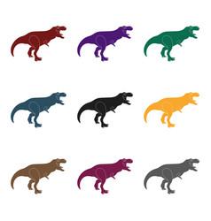 dinosaur tyrannosaurus icon in black style vector image