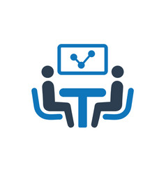 Discuss business report icon vector