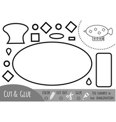 education paper game for children airship vector image