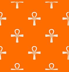 Egypt ankh symbol pattern seamless vector