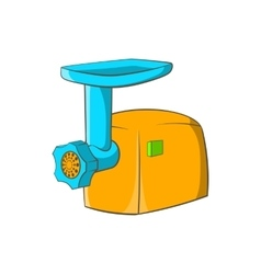 Electric grinder icon cartoon style vector image