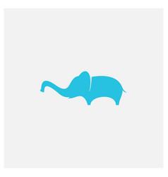 Elephant kid flat minimalist logo design vector