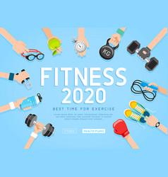 exercises 2020 conceptual design background vector image