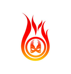 Flame logo template fire logo design graphic vector