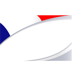 French flag corner banner frame vector