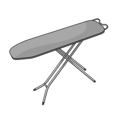 ironing board dry cleaning single icon in outline vector image