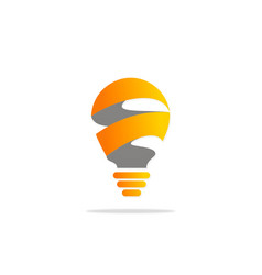 Light bulb technology logo vector