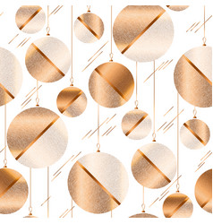 Luxury laconic xmas balls seamless pattern vector