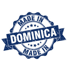 Made in dominica round seal vector