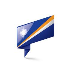 marshall islands flag on a vector image